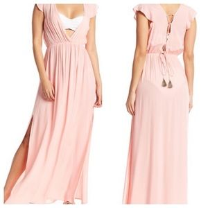 Vince Camuto V-Neckline  Maxi Dress In Size XS.